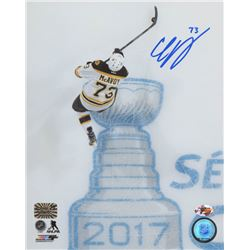 "Charlie McAvoy Signed Bruins '1st NHL Game/ 1st NHL Playoff Game"" 8x10 Photo (Sure Shot Promotions H"