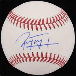 Jose Peraza Signed OML Baseball (Schwartz COA)