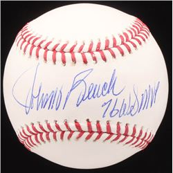 "Johnny Bench Signed OML Baseball Inscribed ""76 WS MVP"" (JSA COA)"