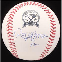 Roberto Alomar Signed OML Blue Jays Logo Baseball (JSA COA)