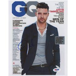 """Justin Timberlake Signed """"GQ"""" 8x10 Photo (PSA COA)"""