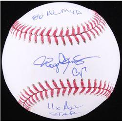 Roger Clemens Signed OML Baseball with (3) Inscriptions (JSA COA)