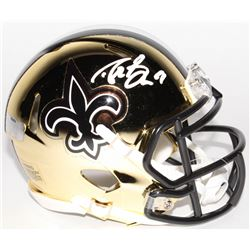 Drew Brees Signed Saints Chrome Speed Mini-Helmet (Radtke COA  Brees Hologram)