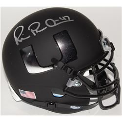 Michael Irvin Signed Miami Hurricanes Custom Matte Black Mini Helmet (JSA COA)