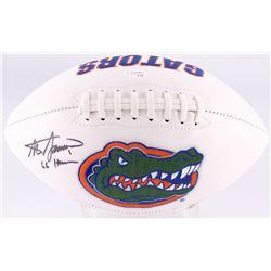 "Steve Spurrier Signed Florida Gators Logo Football Inscribed ""66 Heisman"" (JSA COA)"