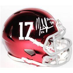 "Mark Ingram Signed Alabama Crimson Tide Chrome Speed Mini-Helmet Inscribed ""Heisman '09"" (Radtke COA"