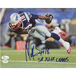 """Matthew Slater Signed Patriots 8x10 Photo Inscribed """"SB XLIX Champs"""" (JSA COA)"""