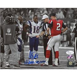 "Matthew Slater Signed Patriots ""OT Coin Toss"" 8x10 Photo Inscribed ""Heads We Win"" (JSA COA  Sure Sho"