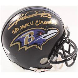 "Rod Woodson Signed Ravens Mini-Helmet Inscribed ""SB XXXV Champs"" (JSA COA)"