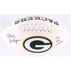 """Mike Holmgren Signed Packers Logo Football Inscribed """"SB XXXI Champs"""" (JSA COA)"""