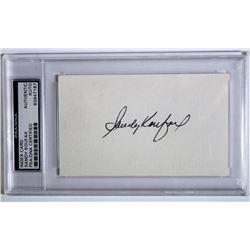 Sandy Koufax Signed Cut (PSA Encapsulated)