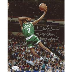 "Dee Brown Signed Celtics ""Slam Dunk Contest"" 8x10 Photo Inscribed ""91 NBA Slam Dunk Champ!"" (JSA COA"