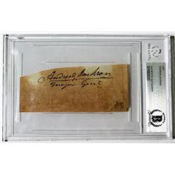 Andrew Jackson Signed Cut (Beckett Encapsulated)