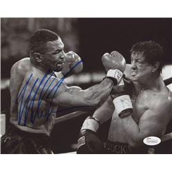 """Mike Tyson Signed """"Vs Rocky"""" 8x10 Photo (JSA COA)"""