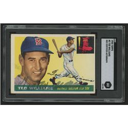 Ted Williams Signed 1955 Topps #2 (SGC Encapsulated)