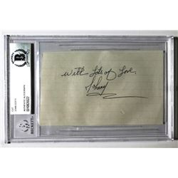 """John Gotti Signed Cut Inscribed """"With Lots of Love"""" (Beckett Encapsulated)"""