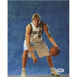 Dirk Nowitzki Signed Mavericks 8x10 Photo (PSA COA)