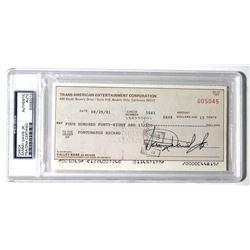 Sammy Davis Jr. Signed Personal Bank Check (PSA Encapsulated)