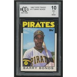 1986 Topps Traded #11T Barry Bonds RC (BCCG 10)