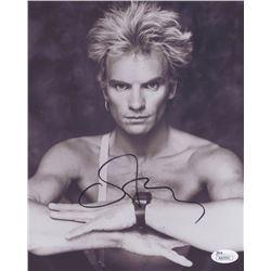 """Sting Signed """"The Police"""" 8x10 Photo (JSA COA)"""