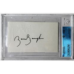 Sammy Baugh Signed Cut (Beckett Encapsulated)
