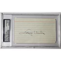 Johnny Unitas Signed Index Card (PSA Encapsulated)