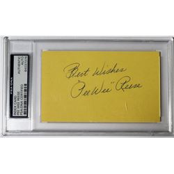 "Pee Wee Reese Signed Cut Inscribed ""Best Wishes"" (PSA Encapsulated)"