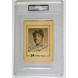 Willie Mays Signed Photo Cut Inscribed  Best Wishes  (PSA Encapsulated)