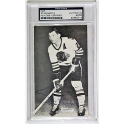 Stan Mikita Signed Blackhawks Photo Cut (PSA Encapsulated)