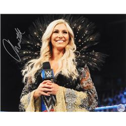 Charlotte Flair Signed WWE 11x14 Photo (Pro Player Hologram)
