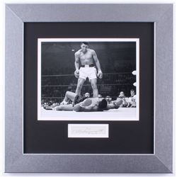 Muhammad Ali Signed  Inscribed 17x17 Custom Framed Display (JSA ALOA)