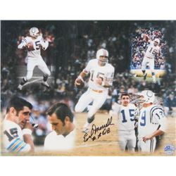 "Earl Morrall Signed 11x14 Photo Inscribed ""QB"" (Pro Player Hologram)"
