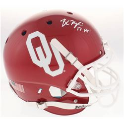 Baker Mayfield Signed Oklahoma Sooners Full-Size Authentic On-Field Helmet Inscribed  17 HT  (Becket