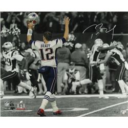 Tom Brady Signed LE Patriots Super Bowl LI 20  x 24  Photo (Steiner COA  TriStar Hologram)
