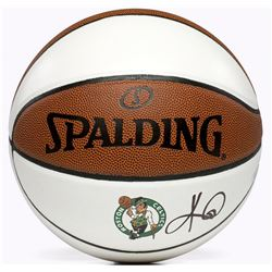 Kyrie Irving Signed Boston Celtics White Panel Basketball (Panini COA)