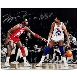 "Michael Jordan  Magic Johnson Signed ""1987 All-Star"" 16x24 Limited Edition Photo (UDA COA)"