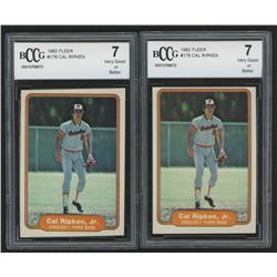 Lot of (2) 1982 Fleer #176 Cal Ripken RC (BCCG 7)