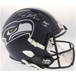"Shaun Alexander Signed Seahawks Full-Size Speed Helmet Inscribed ""MVP -05-"" (Beckett COA)"