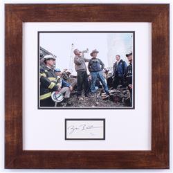 George W. Bush Signed 17.5x17.5 Custom Framed September 11th Speech Display (JSA COA)
