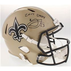 "Marshon Lattimore Signed Saints Full-Size Speed Helmet Inscribed ""2017 DROY"" (Radtke COA)"