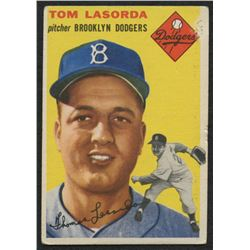 1954 Topps #132 Tommy Lasorda RC