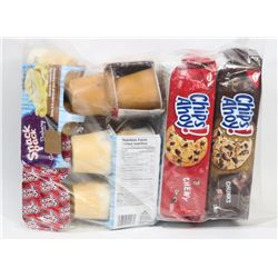 BAG OF CHIPS AHOY AND ASSORTED PUDDINGS
