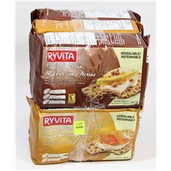 6 PACKS OF RYVITA CRACKERS