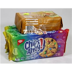3 PACKS OF CHIPS AHOY COOKIES AND CRACKERS