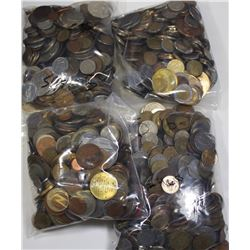 20 POUNDS OF FOREIGN COINS