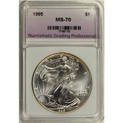 1995 AMERICAN SILVER EAGLE NGP GRADED