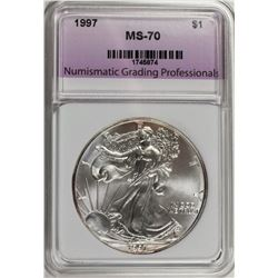 1997 AMERICAN SILVER EAGLE NGP GRADED