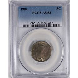 1904 LIBERTY NICKEL PCGS AU 58
