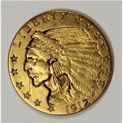 1912 $2.50 INDIAN GOLD