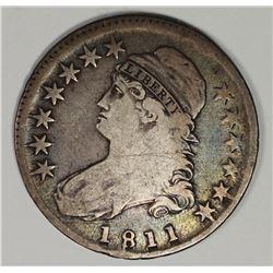 1811 SMALL 8 BUST HALF DOLLAR FINE